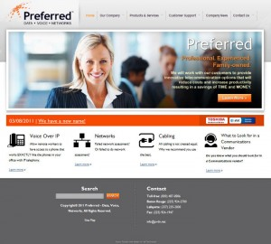 Preferred - Baton Rouge website redesign